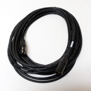 XLR Male – Female Cable – Canare Black & Gold